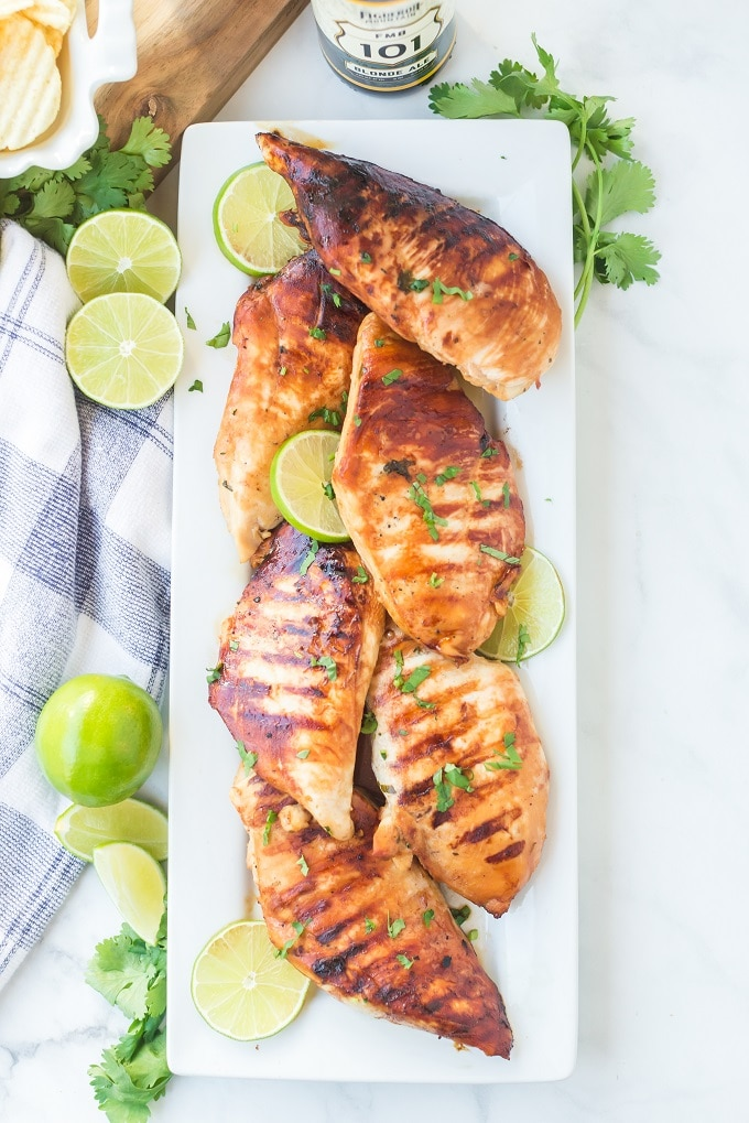 Grilled Chicken with Beer Marinade Recipe