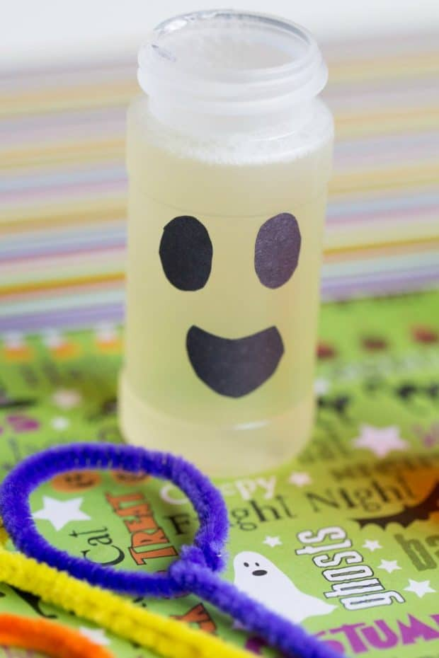 GHOST THEMED DIY HALLOWEEN BUBBLES