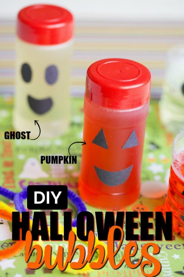 pumpkin and ghost halloween bubbles for kids