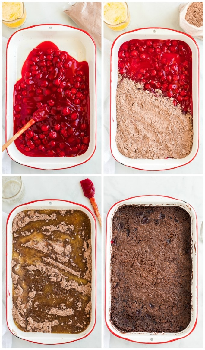 How to Make Chocolate Cherry Dump Cake