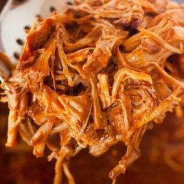 close up shot of Instant Pot Pulled Pork