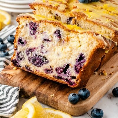 sliced lemon blueberry bread