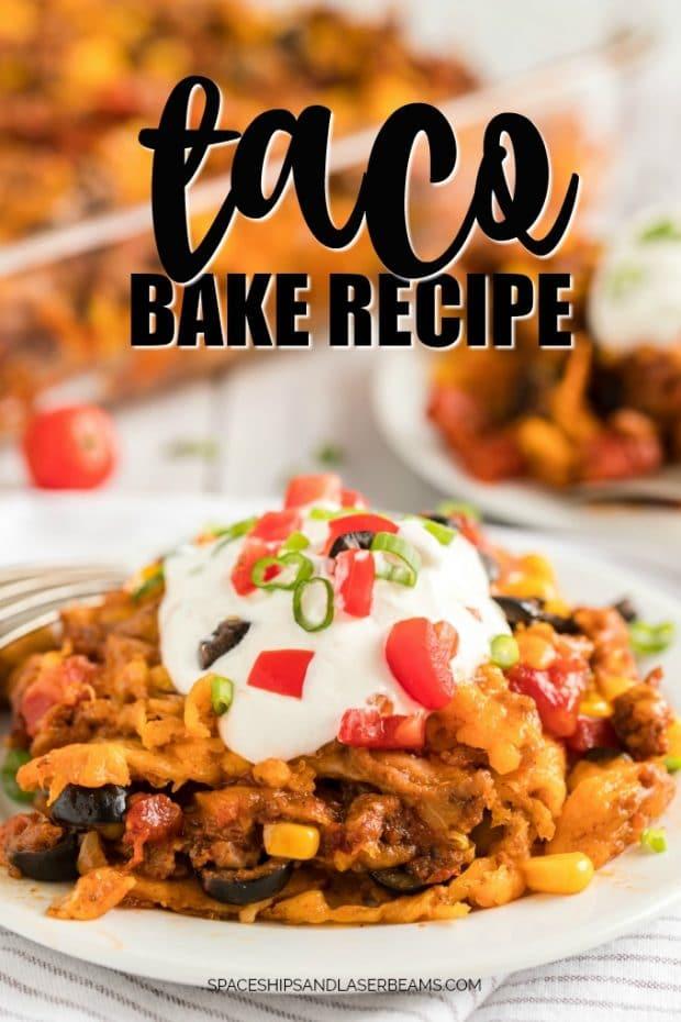 taco bake on a cake
