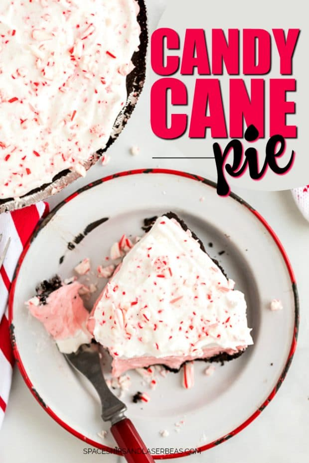 candy cane pie slice