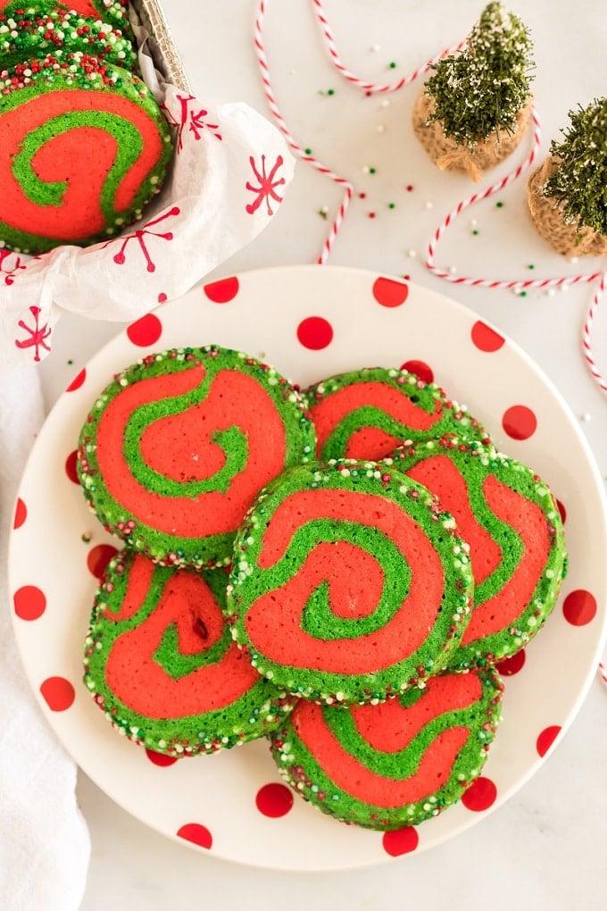 Christmas Pinwheels Cookie