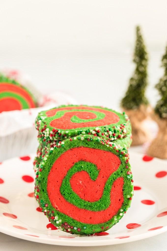 Favorite Christmas Pinwheel Cookies