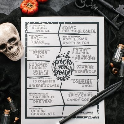 Free Halloween Printable Game Featured