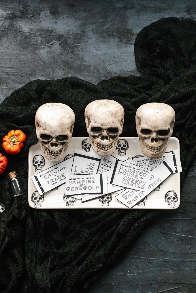 Fun Halloween Printable Game Would You Rather
