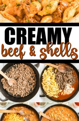 creamy beef and shells pinterest