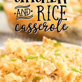 PLATE OF CHICKEN AND RICE CASSEROLE