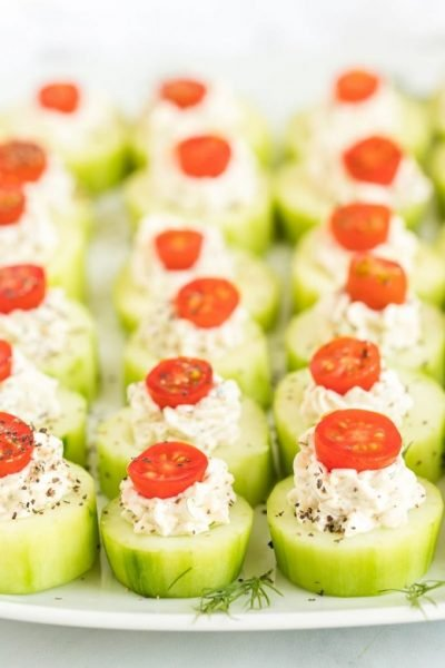 Cucumber Bites Appetizers Featured