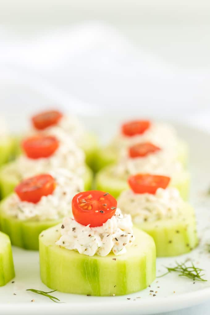 Easy Cucumber Bites Appetizer