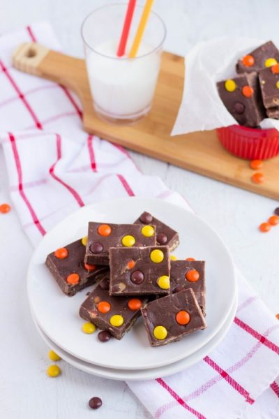 Easy Reese's Pieces Fudge Recipe