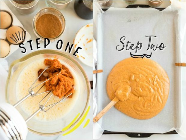 steps for making pumpkin roll