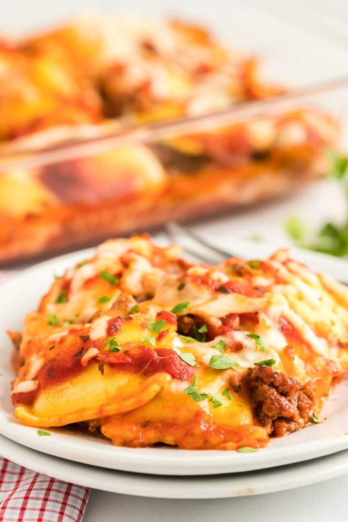 Quick Weeknight Dinner Idea Ravioli Lasagna