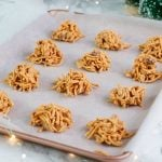 butterscotch haystacks on a tray