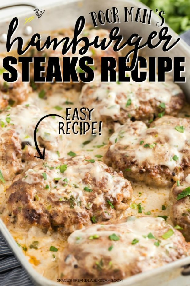 hamburger steaks in baking dish