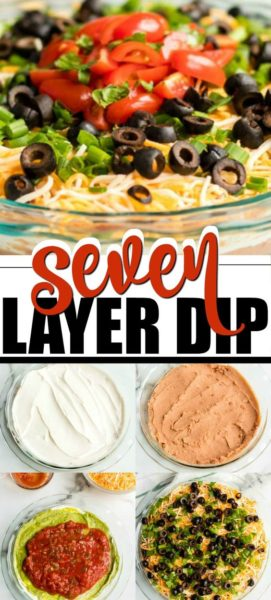 seven layer dip pinterest