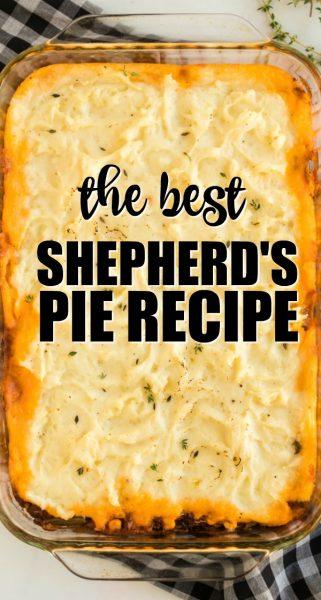 shepherd's pie in a casserole dish