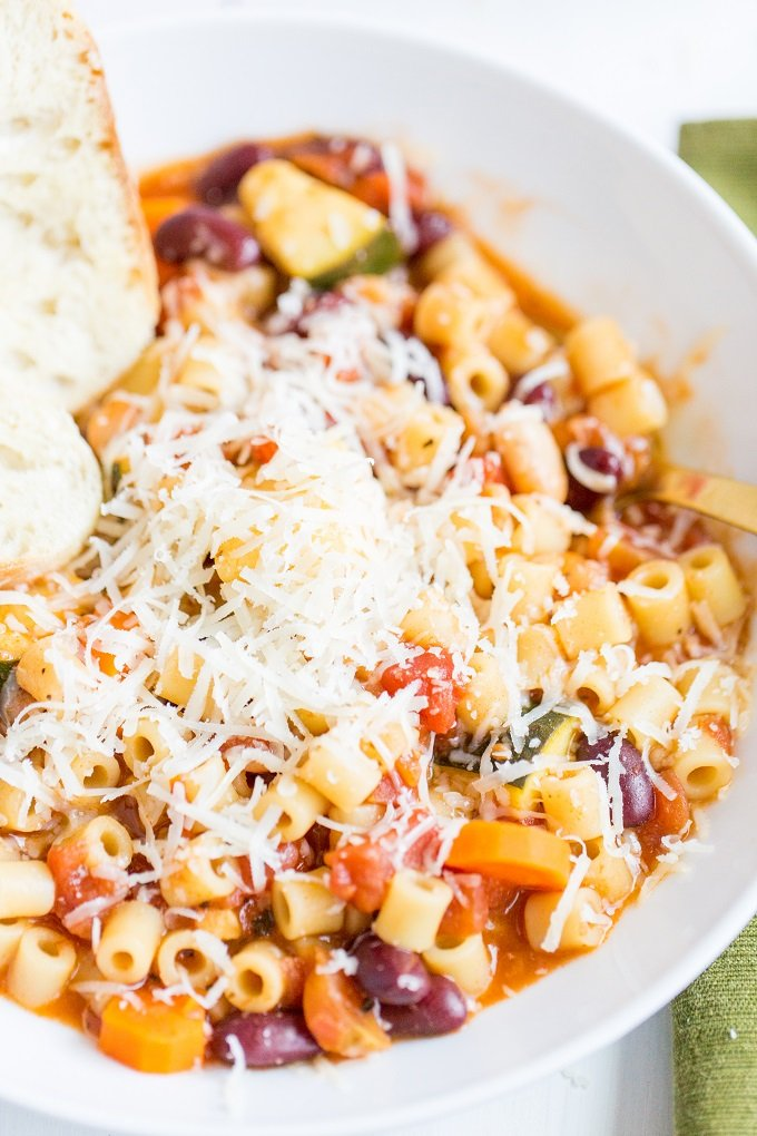Cheesy Minestrone Soup