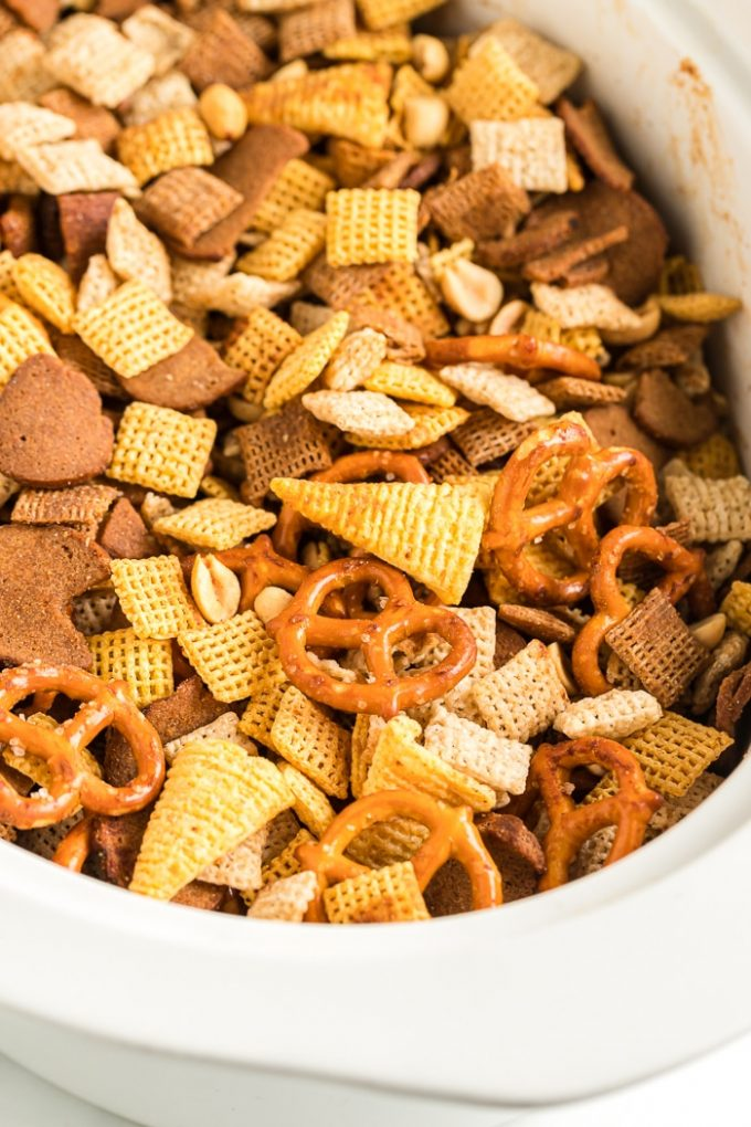 Easy Slow Cooker Chex Mix