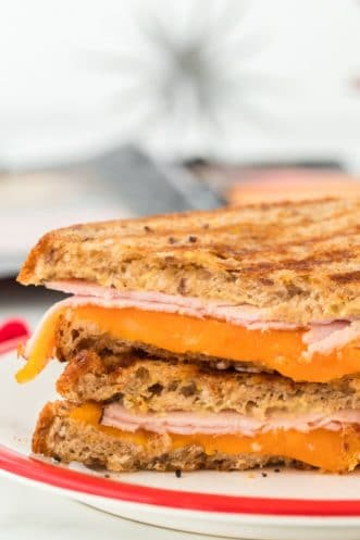 Grilled Ham and Cheese Featured