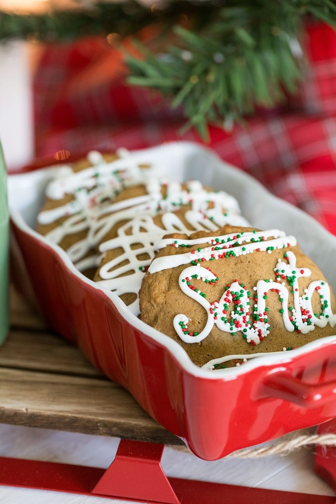 Homemade Soft Gingerbread Cookies