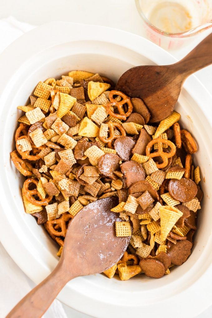 Simple Slow Cooker Chex Mix