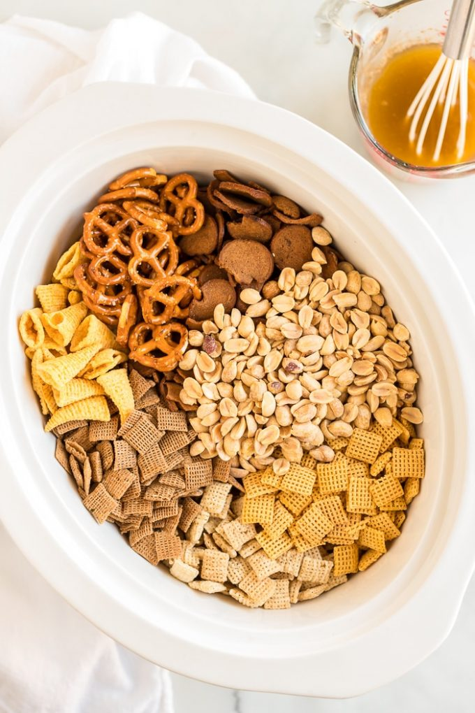 Slow Cooker Chex Mix Ingredients