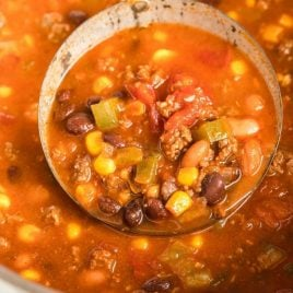 A bowl of soup, with Taco soup