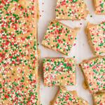 close up shot of gingerbread fudge