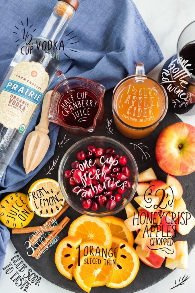 Fall Sangria Ingredients