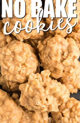 Plate of peanut butter no bake cookies