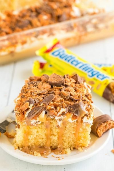 Butterfinger Cake Featured