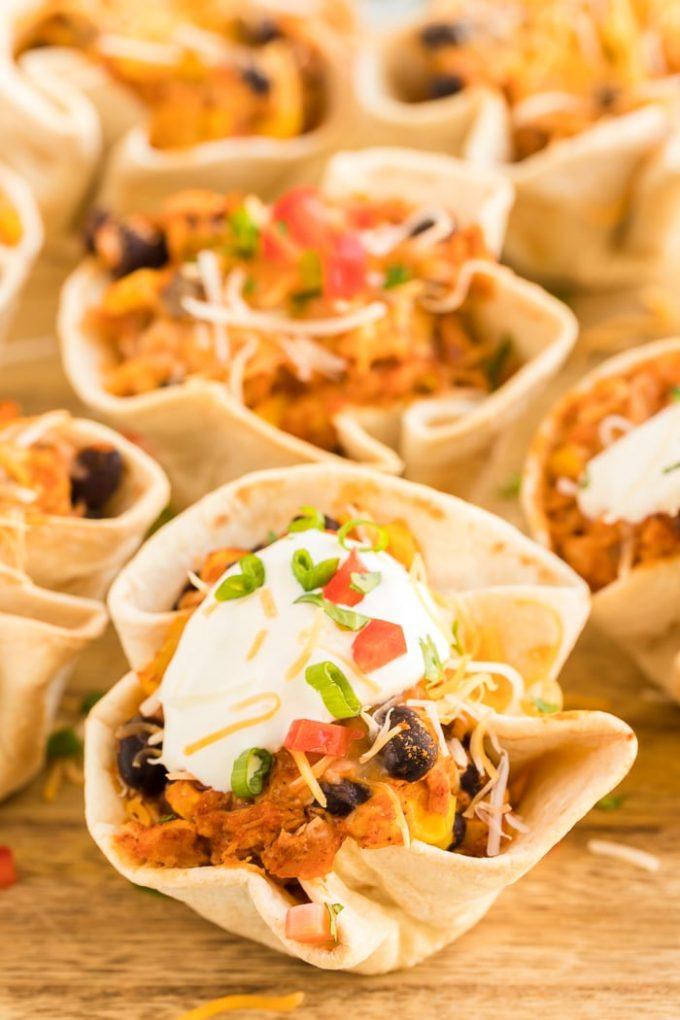 Easy Enchilada Cups Appetizer