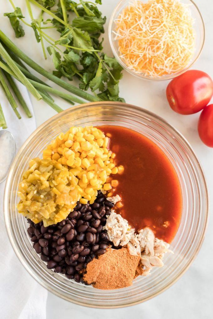 Ingredients for Enchilada Cups Filling