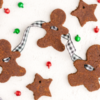 close up shot of cinnamon ornaments decorated for christmas