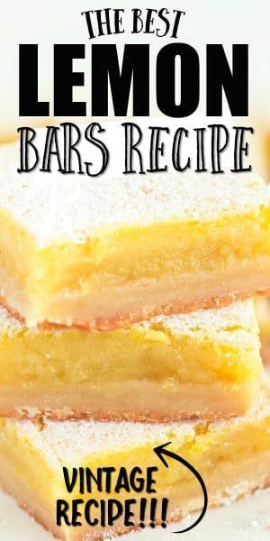lemon bars in a stack