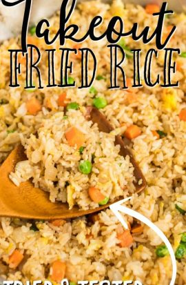 closeup of better than takeout fried rice
