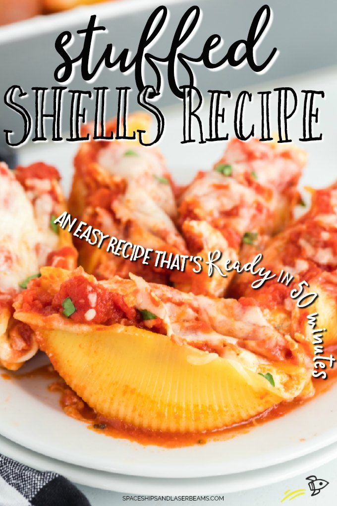 stuffed shells on a plate