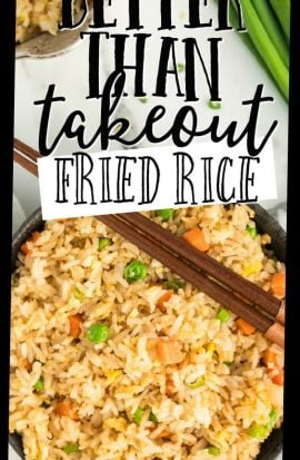 takeout fried rice in bowl