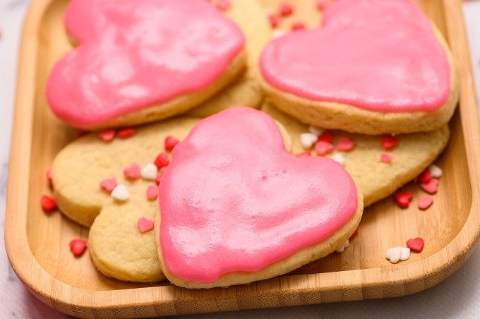 Easy Valentine Sugar Cookies