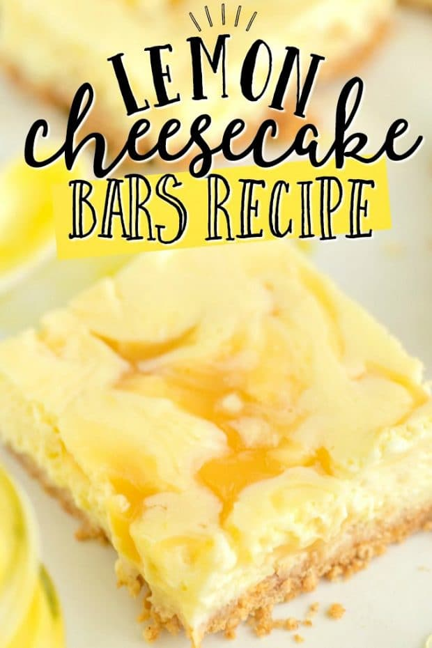 square cut lemon cheesecake bar