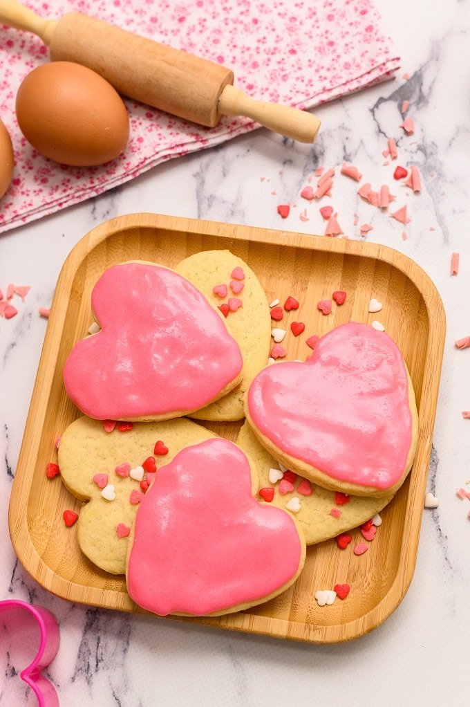 Simple Valentine Sugar Cookies