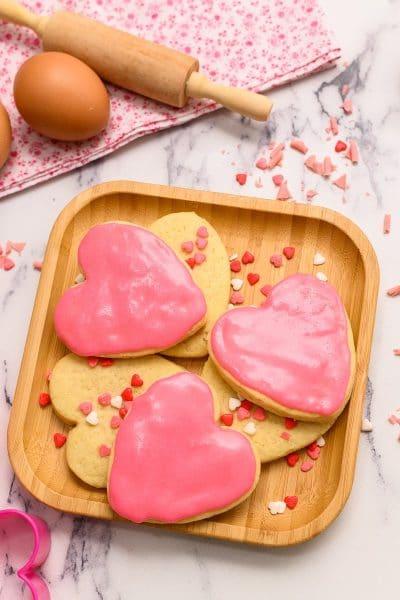 Valentine Heart Sugar Cookies