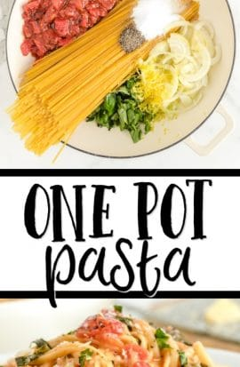 one pot pasta pinterest
