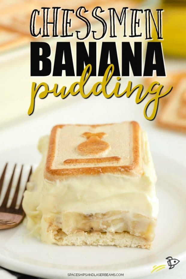 slice of chessman banana pudding