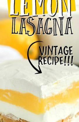 slice of lemon lasagna