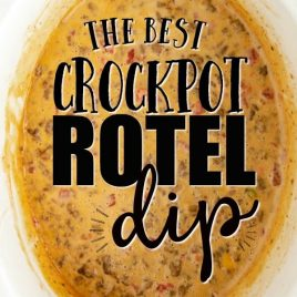 Rotel Dip in a slow cooker