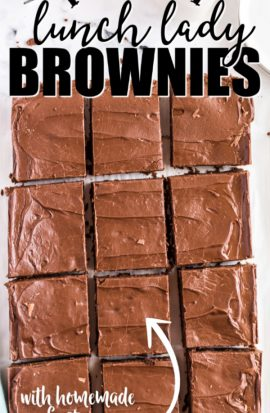 sheet of lunch lady brownies